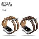 ショッピングHERMES apple watch バンド 42mm 38mm ダブルバンド 本革 レザー Series 1 2 3 対応 アップルウォッチ ベルト ビジネススタイル ブランド 金属クラスプ付き
