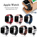 ショッピングNIKE apple watch バンド 本革 レザー 42mm 38mm Series 1 2 3 対応 アップルウォッチ ベルト ブランド genuine leather