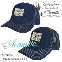 Acoustic アコースティック デニムベースボールキャップ AZ6000「メンズ/帽子/キャップ/デニム生地」【メンズファッション 帽子 キャップ】