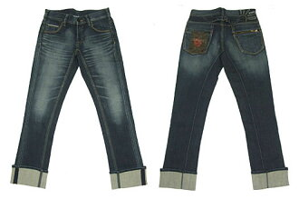 BIGJOHN big John lambda stitch MB301-195 tight straight ZipBack ミッドユーズド (casual men's / bottoms / jeans / big John / American casual /)