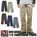 BenDavis ベンデイビス T/C TWILL WORK PANTS 米国製 ストレート ワークパンツ BDUS-501B【送料無料】【smtb-TD】【tohoku】