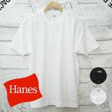 Hanes ヘインズ 半袖 ヘンリーネック Tシャツ(メンズ/トップス/半袖/Tシャツ/ヘンリーネック/インナー)