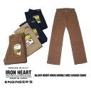 IRON HEART・アイアンハート No.801 ヘビー ダック ダブルニー ロガージーンズ「メンズボトムス」