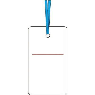つくしケーブルタグ 荷札式 白無地 両面印刷 ビニタイ付き30E【4214781】