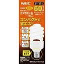 NEC電球形蛍光ランプD形60W電球色 E17EFD15EL11E17C2C【3839800】