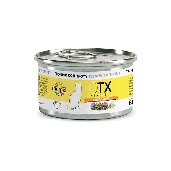 【グリーンフィッシュ】DTX センシブル[ツナ・マス・ハーブ]キャット缶フード1缶/80g