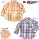 【春物アウトレットセール】ホットビスケッツ(HOT BISCUITS) パステルチェック☆シャツ(80、90)