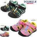 【夏物アウトレットセール】ミキハウス ダブルB(DOUBLE.B) メッシュ素材のアウトドア風サンダル(子供靴)