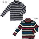 【2017新春セール】ミキハウス ダブルB(DOUBLE.B) 綿ニットボーダー☆タートルセーター(100、110)