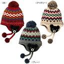 ミキハウス ダブルB(DOUBLE.B) 編みぐるみ付きノルディック柄フード(帽子)