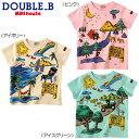【夏物アウトレットセール】ミキハウス ダブルB(DOUBLE.B) リゾートプリント♪半袖Tシャツ(80、90)