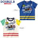 【夏物アウトレットセール】ミキハウス ダブルB(DOUBLE.B) 双眼鏡モチーフの半袖Tシャツ(80、90)