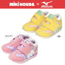 【セール】ミキハウス(MIKIHOUSE) ★ミキハウス&ミズノ★コラボレーション 小花柄セカンドベビーシューズ(子供靴)
