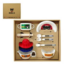 ミキハウスダブルB(DOUBLEB)箱付食洗機OKベビー食器セット