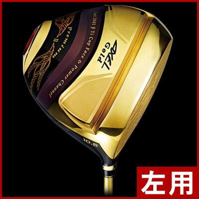 《》【レフティ/左利き用】つるや アクセル ゴールド プレミアム2 ドライバー (高反発モデル) LEFTY TSURUYA AXEL GOLD PREMIUM 2 DRIVER [新品/日本仕様正規品/送料無料]