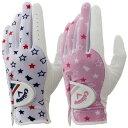 《あす楽》【ネコポス可】【レディス/女性用】キャロウェイ 2015 ウイメンズ シェブ デュアル ゴルフ手袋 (両手用)