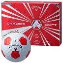 《あす楽》キャロウェイ 2016 クロムソフト TRUVIS(トゥルービス) ボール (ホワイト×レッド) [1ダース]