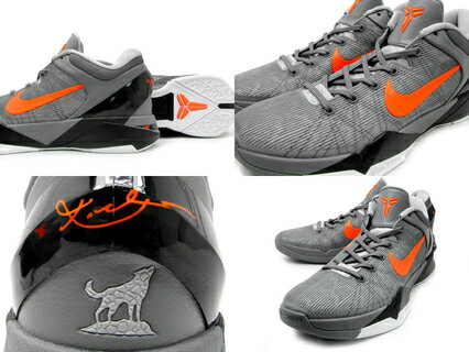 Nike(�ʥ���)Zoom(������)Kobe(�����ӡ�)VIIX(488371-002)�ڳ������쥢���ʡ�WolfGrey/Orange/Black[���������]KobeBryant(�����ӡ����֥饤�����)������Բ�