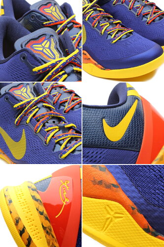 Nike(�ʥ���)Zoom(������)KOBE(�����ӡ�)VIII8SYSTEM(�����ƥ�)BARCELONA(�Х륻���)(555035-402)�ڳ�����󤻡�쥢���ʡ�ROYALBLUE/ORANGE/YELLOW[��󥺡�������]KobeBryant(�����ӡ����֥饤�����)������Բġ�P27Mar15��