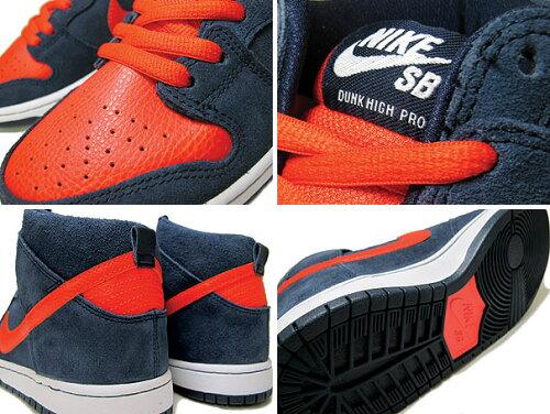 Nike(�ʥ���)Dunk(����)High(�ϥ�)Pro(�ץ�)SB(305050-481)�ڳ������쥢���ʡ�Obsidian/Orange/White[���������]������Բ�