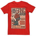LICENSED CHARACTER キャラクター Tシャツ 赤 レッド 【 RED LICENSED CHARACTER THE BIG BANG THEORY SHELDON COOPER QUOTES POSTER TEE 】 メンズファッション トップス Tシャツ カットソー