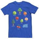 ショッピングどうぶつの森 LICENSED CHARACTER キャラクター Tシャツ 【 LICENSED CHARACTER ANIMAL CROSSING NEW HORIZONS FRUIT AND TREES TEE ROYAL 】 メンズファッション トップス Tシャツ カットソー