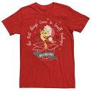 ショッピングPackage LICENSED CHARACTER キャラクター クリスマス Tシャツ 赤 レッド 【 RED LICENSED CHARACTER LOONEY TUNES CHRISTMAS TWEETY BEST THINGS IN SMALL PACKAGES TEE 】 メンズファッション トップス Tシャツ カットソー