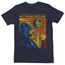 ショッピングポスター STAR WARS Tシャツ 紺色 ネイビー スターウォーズ 【 DARTH VADER PROPAGANDA STYLE POSTER TEE NAVY 】 メンズファッション トップス Tシャツ カットソー