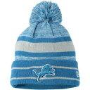 ショッピングバッグ ニューエラ NEW ERA 青色 ブルー デトロイト ライオンズ ニット ニューエラ 【 BLUE STRIPED KNIT HAT WITH POM LNS 】 バッグ キャップ 帽子 メンズキャップ 帽子