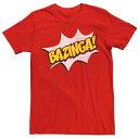 ショッピングbigbang LICENSED CHARACTER キャラクター Tシャツ 赤 レッド 【 RED LICENSED CHARACTER THE BIG BANG THEORY BAZINGA TEE 】 メンズファッション トップス Tシャツ カットソー
