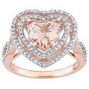 ショッピングhalo ローズ ゴールド ダイヤモンド T.W & 【 ROSE STELLA GRACE 10K GOLD 1 3 CARAT DIAMOND MORGANITE HEART HALO RING 】