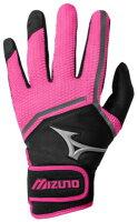 Mizuno Finch Batting バッティング Gloves - Womens レディース black 黒・ブラック/pink ピンクの画像