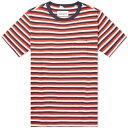 ショッピングアルバム ALBAM クラシック ストライプ Tシャツ 紺 ネイビー RED, & 【 STRIPE NAVY ALBAM CLASSIC TEE TAN 】 メンズファッション トップス Tシャツ カットソー