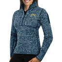 ANTIGUA レディース チャージャーズ 紺 ネイビー WOMEN'S 【 NAVY ANTIGUA LOS ANGELES CHARGERS FORTUNE PULLOVER JACKET COLOR 】