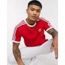 ショッピングその他 ストライプ Tシャツ 赤 レッド メンズファッション トップス カットソー 【 STRIPE RED ADIDAS ORIGINALS 3 TSHIRT IN 】