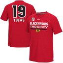 リーボック REEBOK シカゴ Tシャツ & 【 JONATHAN TOEWS CHICAGO BLACKHAWKS CI FREEZE SUPREMIUM NAME NUMBER TSHIRT RED 】 メンズファッション トップス カットソー 送料無料