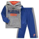 COLOSSEUM フロリダ ベビー 赤ちゃん用 フリース パンツ キッズ マタニティ ジュニア 【 Florida Gators Toddler Back To School Fleece Hoodie And Pant Set - Heathered Gray/royal 】 Heathered Gray/royal