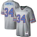 е▀е├е┴езеыбїе═е╣ MITCHELL & NESS е╥ехб╝е╣е╚еє еьеме╖б╝ е╕еуб╝е╕ б┌ NFL LEGACY EARL CAMPBELL HOUSTON OILERS 100 RETIRED PLAYER JERSEY PLATINUM б█ е╣е▌б╝е─ евеже╚е╔ев евесеъелеєе╒е├е╚е▄б╝еы ┴ў╬┴╠╡╬┴