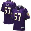 NFL PRO LINE ボルティモア レイブンズ ジャージ 紫 パープル スポーツ アウトドア アメリカンフットボール メンズ 【 Bart Scott Baltimore Ravens Retired Player Jersey - Purple 】 Purple