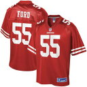 NFL PRO LINE プロ フォーティーナイナーズ 子供用 ジャージ 【 NFL PRO LINE DEE FORD SAN FRANCISCO 49ERS YOUTH PLAYER JERSEY SCAR..