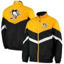ショッピンググラグラ スターター STARTER ピッツバーグ ラグラン メンズファッション コート ジャケット メンズ 【 Pittsburgh Penguins The Bench Coach Raglan Full-zip Jacket - Black/gold 】 Black/gold