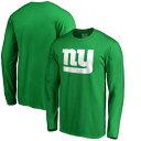 NFL PRO LINE BY FANATICS BRANDED ジャイアンツ 白 ホワイト ロゴ スリーブ Tシャツ 緑 グリーン St. メンズファッション トップス カットソー メンズ 【 New York Giants St. Patricks Day White Logo Long Sleeve