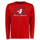 Men's Clothing - FANATICS BRANDED ケビン スリーブ Tシャツ 赤 レッド メンズファッション トップス カットソー メンズ 【 Kevin Harvick Race Day Long Sleeve T-shirt - Red 】 Red