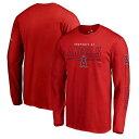 ショッピングスチーム ファナティクス FANATICS BRANDED エンゼルス チーム スリーブ Tシャツ 赤 レッド ロサンゼルス 長袖 【 TEAM SLEEVE RED FANATICS BRANDED FRONT LINE TSHIRT 】 メンズファッション トップス Tシャツ カット