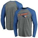 FANATICS BRANDED シンシナティ トランジション ラグラン スリーブ Tシャツ 灰色 グレー グレイ 青 ブルー 【 RAGLAN SLEEVE GRAY BLUE FANATICS BRANDED FC CINCINNATI TRUE CLASSICS TRANSITION TRIBLEND LONG TSHIRT 】 メ