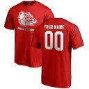 FANATICS BRANDED ゴンザガ バスケットボール Tシャツ 赤 レッド [CUSTOMIZED ITEM] & 【 RED FANATICS BRANDED GONZAGA BULLDOGS ANY NAME NUMBER PERSONALIZED BASKETBALL TSHIRT 】 メンズファッション トップス Tシャツ