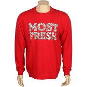 【海外限定】フレッシュ Tシャツ メンズファッション 【 NEFF MOST FRESH CREWNECK RED 】【送料無料】