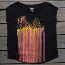 Tシャツ 黒色 ブラック 【 ELEVEN PARIS X BARBIE WOMEN DRIP CALABIE TEE BLACK 】 レディースファッション トップス Tシャツ カットソー
