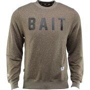 【海外限定】Tシャツ カットソー 【 BAIT INVISIBLE POCKETS FITTED CREWNECK GREEN OLIVE 】【送料無料】