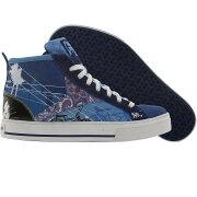 【海外限定】リーボック ミッド 白 ホワイト 黒 ブラック 青 ブルー スニーカー 靴 メンズ靴 【 REEBOK WHITE BLACK BLUE CL SW CANVAS MID RBC LOS ANGELES AZURE 】【送料無料】